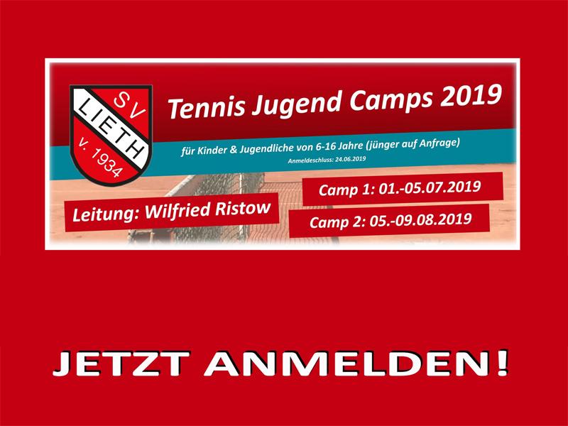 Tennis Jugend Camps 2019: JETZT ANMELDEN!