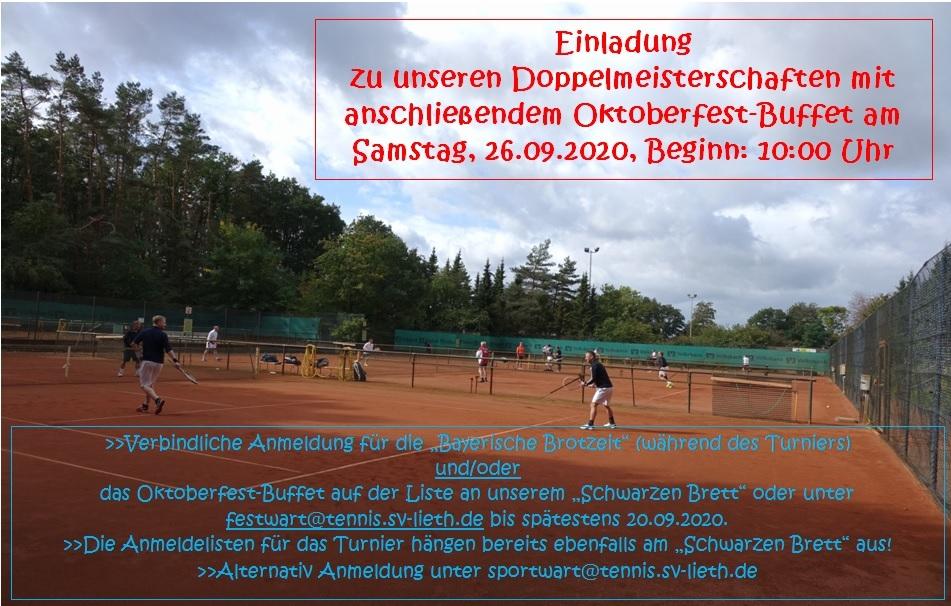 Doppelmeisterschaften und Oktoberfest