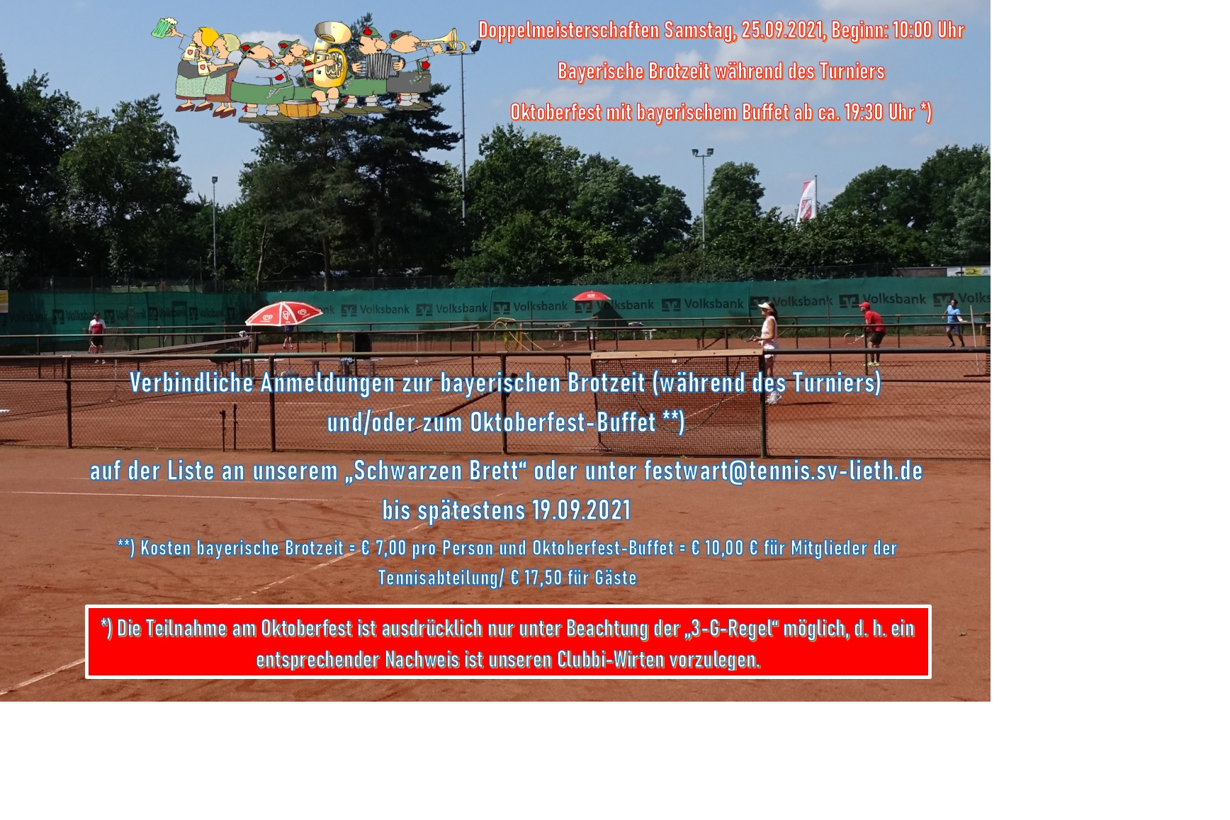 Doppelmeisterschaften und Oktoberfest am 25.09.2021